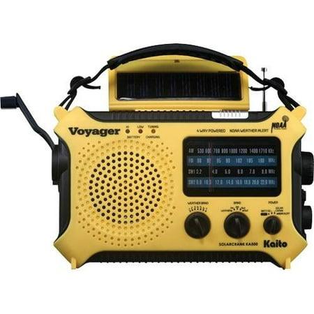 Kaito Ka500 5 Way Powered Emergency Am Fm Sw Noaa Weather Alert Radio With Solar Dynamo Crank Flashlight And Reading Lamp   Yellow