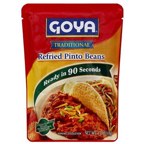 Goya Traditional Refried Pinto Beans, 15 oz, (Pack of 12)