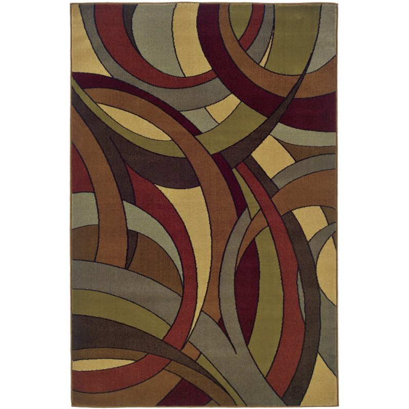 Sphinx Jayden Area Rugs - 1982A Contemporary Multi Lines Circles Shapes Rug