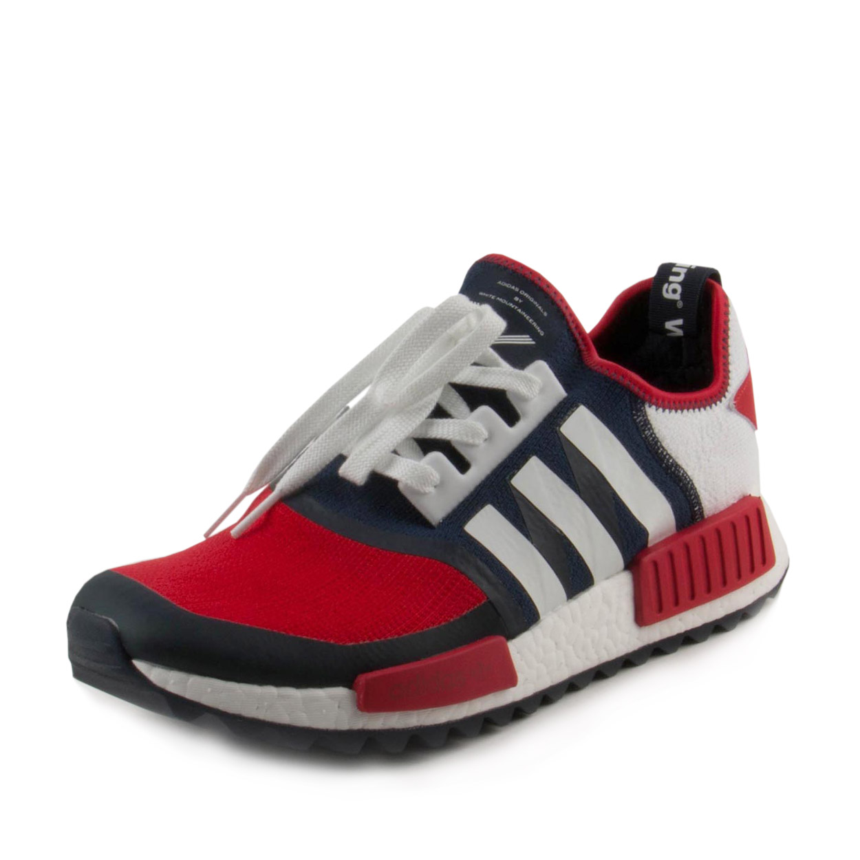 Adidas Mens White Mountaineering NMD Trail Pk Red/Blue-Wh...