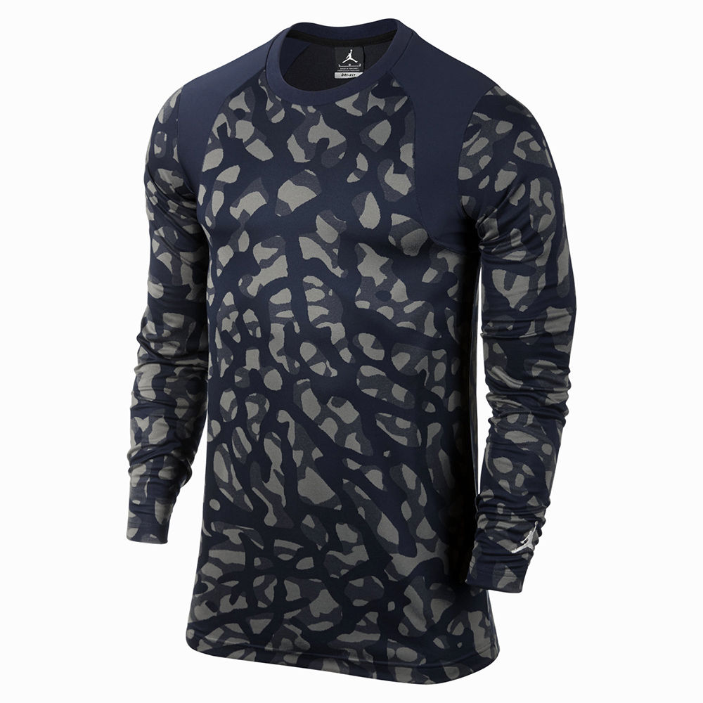 Nike Air Jordan Men's Long Sleeve Camo T Shirt Top Size L