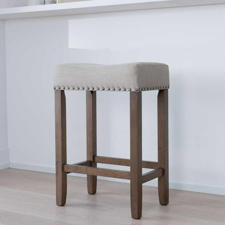 Hylie Wood Kitchen Counter Stool 24 Quot Pale Beige