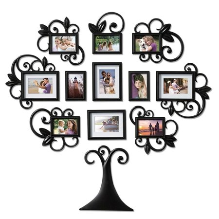 3D Family Wedding Tree Shaped Photo Picture Frame Collage Art Wall Home Decor ()