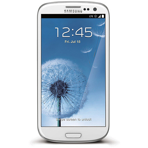Virgin Mobile Data Done Right Samsung Prepaid Galaxy S3 Smartphone, White