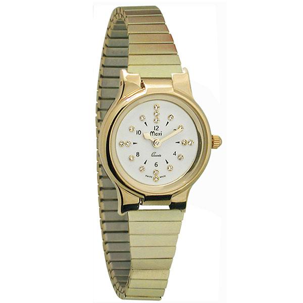 Ladies Gold-Tone President Quartz Braille Watch with Gold...