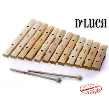 D'Luca 12 Notes Wood Xylophone with Music Cards