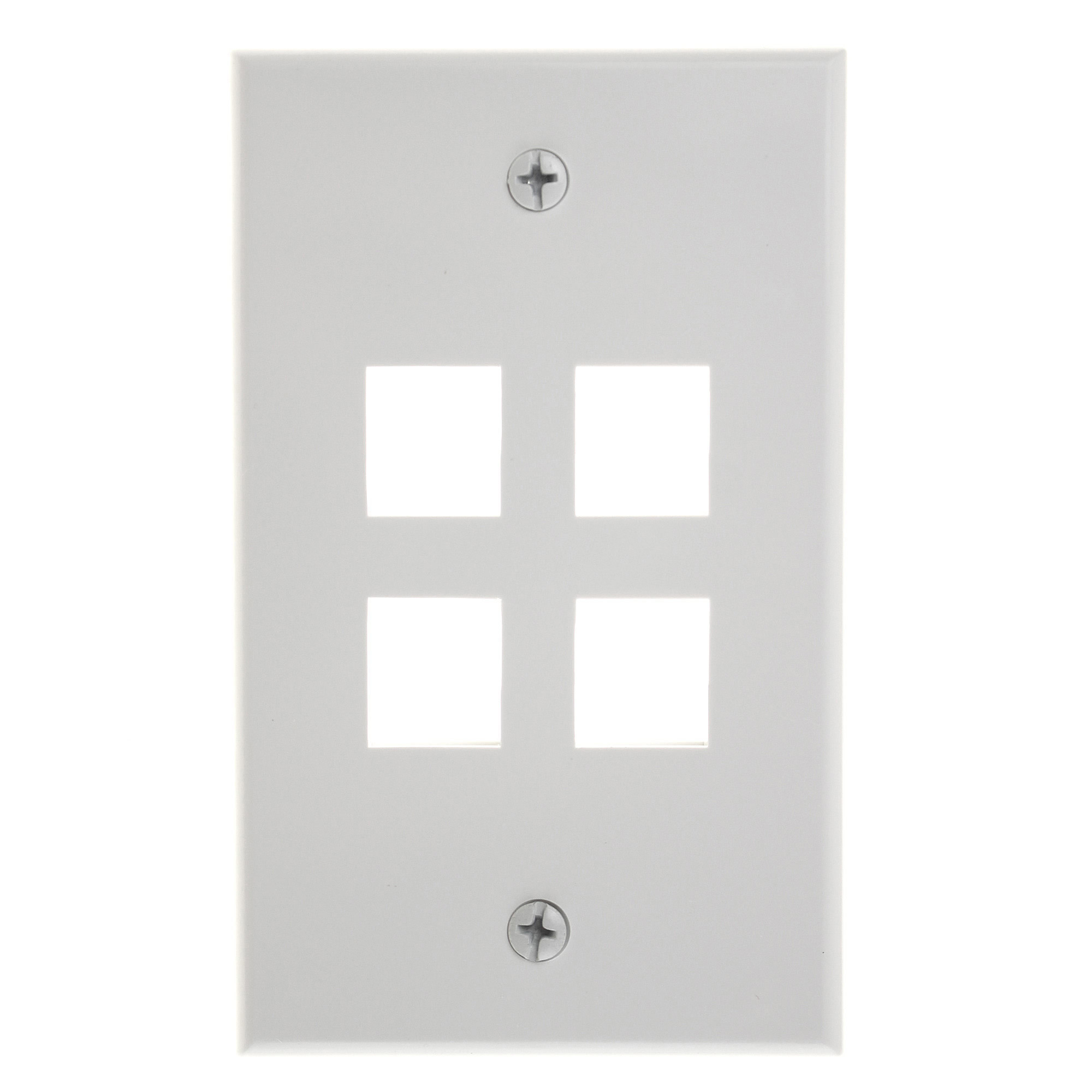 Legrand 4 Port Value Port Wall Plate