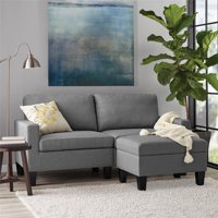 Mainstays Modern Track Arm Linen Sofa, Gray