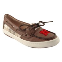 Nebraska Cornhuskers Women's Westend One Eye Moccasins - Brown
