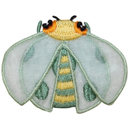 ID 0422 Lady Bug Flying Patch Garden Insect Craft Embroidered Iron On Applique - Insect Crafts