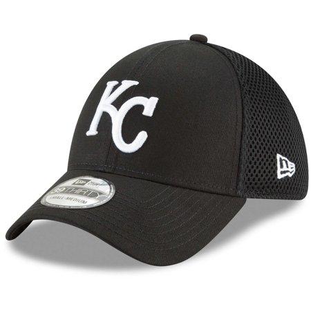 Kansas City Royals New Era Neo 39THIRTY Unstructured Flex Hat- Black - Kansas City Royals Hats