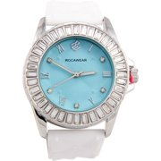 Rocawear Watch RL0261S1-061 Quilted Blue Dial Rubber Strap Quartz Movement