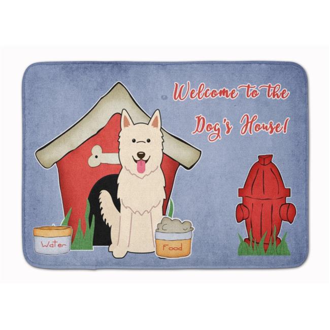 Carolines Treasures BB2799RUG Dog House White German Shepherd Machine Washable Memory Foam Mat - image 1 of 1