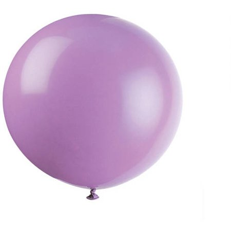 Latex Round Giant Balloons, 36 in, Lilac Lavender, 6ct