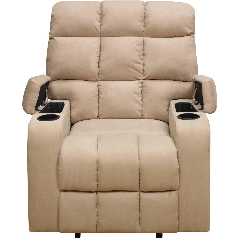 Fine Mainstays Tyler Wall Hugger Storage Arm Recliner Chair Theyellowbook Wood Chair Design Ideas Theyellowbookinfo