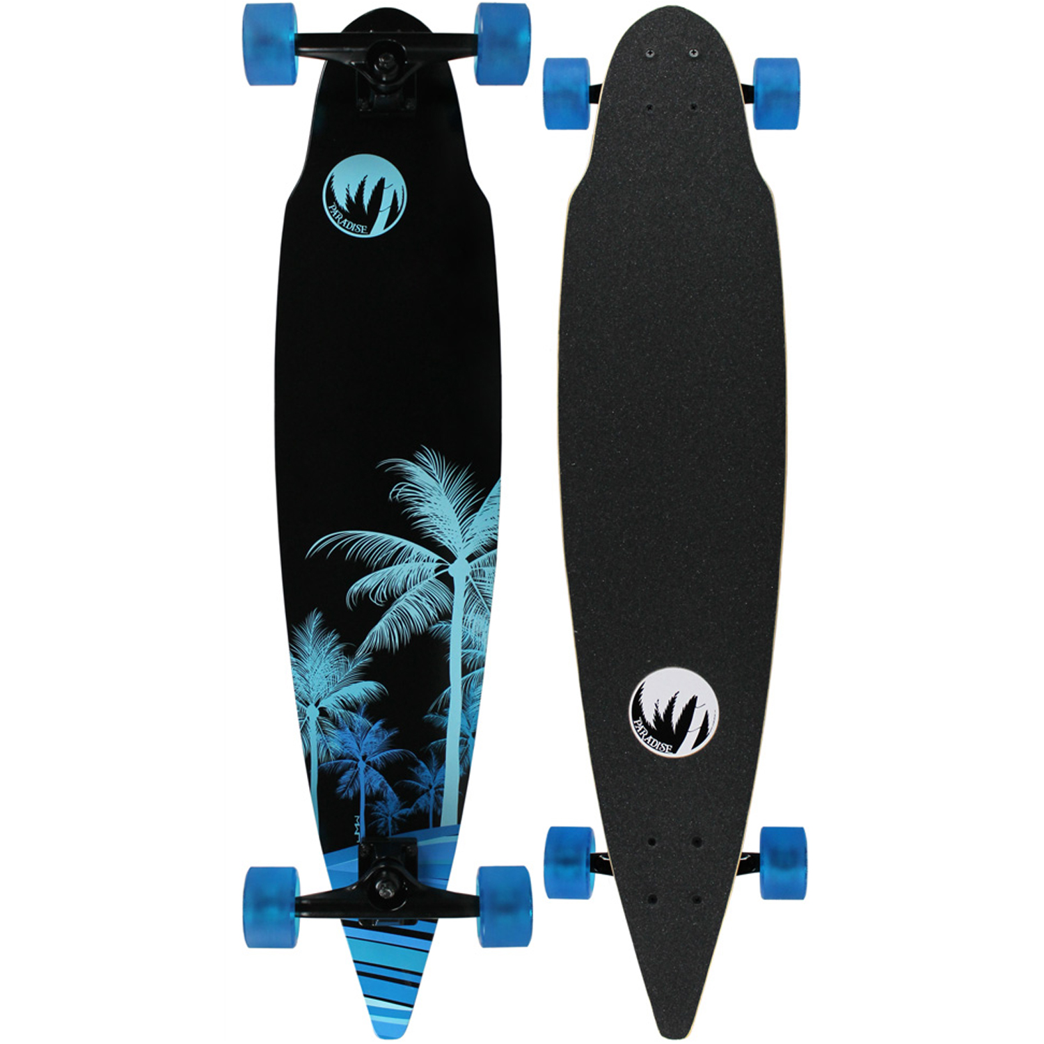 PARADISE Longboard Complete WAVE PALMS PINTAIL COMPLETE 8.5 X 38