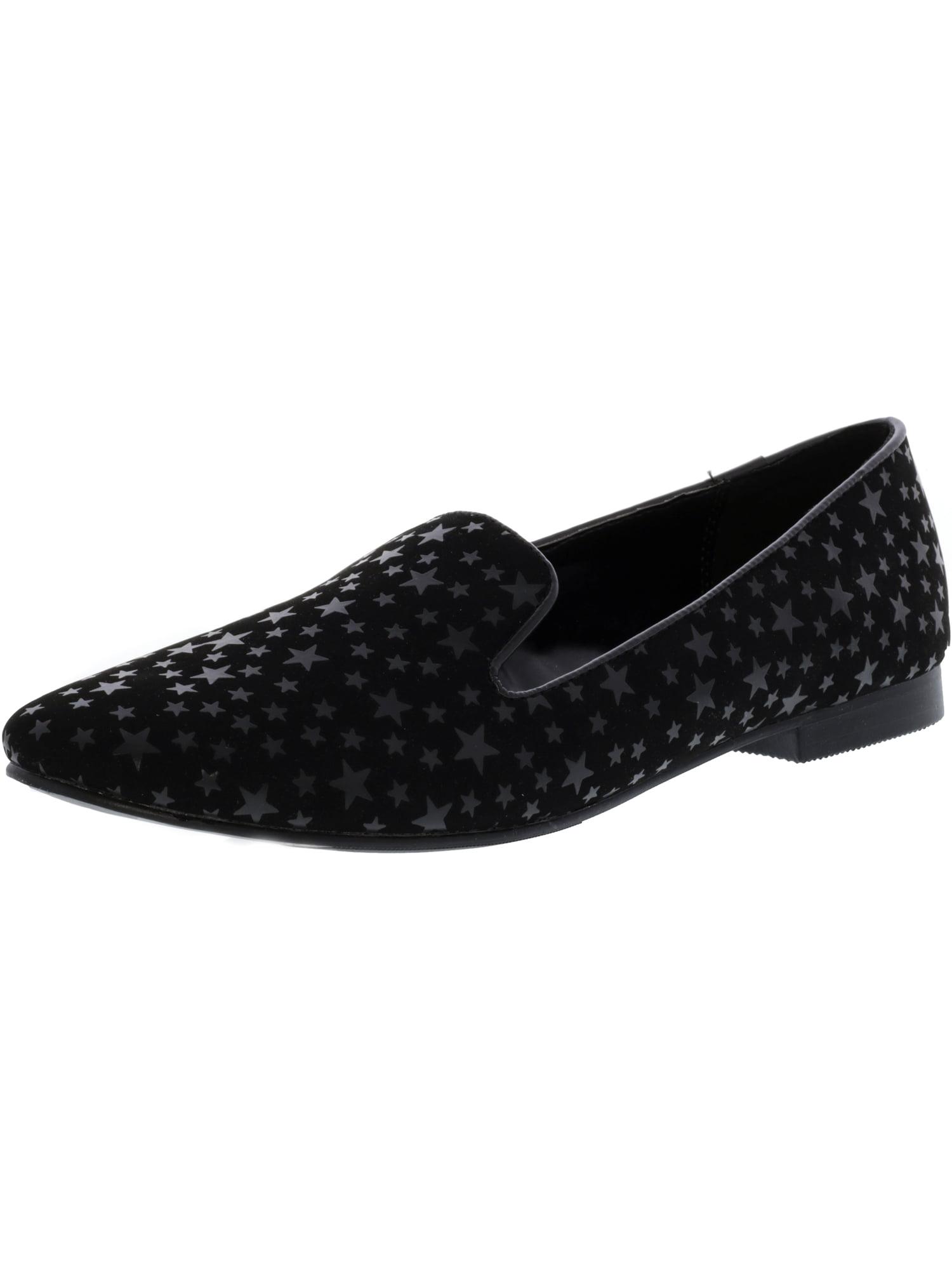 Madden Girl Women's Cloey Black / Star Ankle-High Slip-On Shoes - 10M