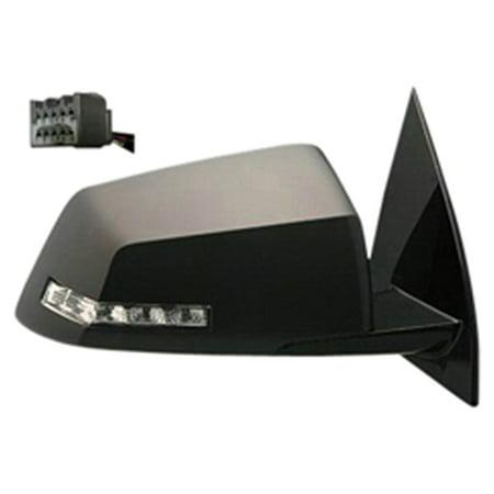 2009-2012 Chevrolet Traverse  Passenger Side Right Heated Signal Manual Folding Power Door Mirror (Side Power Heated Folding)