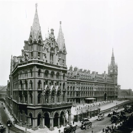 St Pancras Railway Station; Photograph from April 1899 Print Wall Art
