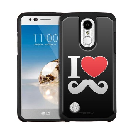 LG Fortune Hybrid Slim Case - I Love Mustache on Black