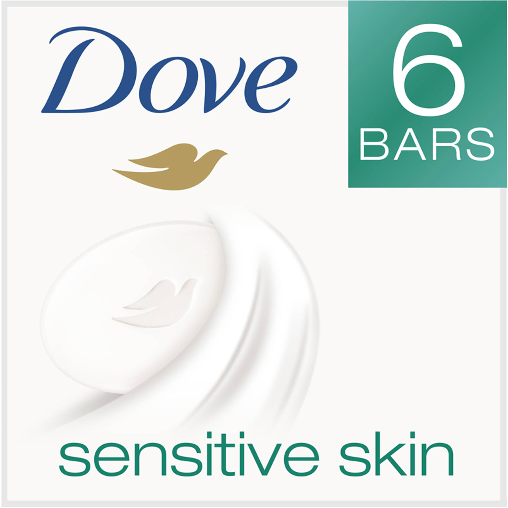 Dove Sensitive Skin Beauty Bar, 4 oz, 6 Bar