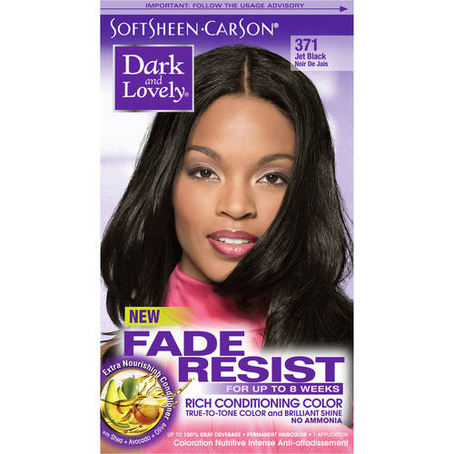SoftSheen-Carson Dark and Lovely Fade Resist Rich Conditioning Color, #372 Natural Black