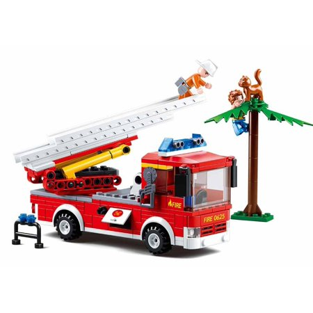 Sluban Firefighting City Series Blocks Educational Bricks Toy Kit (269 Piece) - Truntable Ladder
