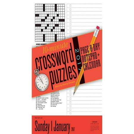 10-minute Crossword Puzzles Notepad 2017 Calendar
