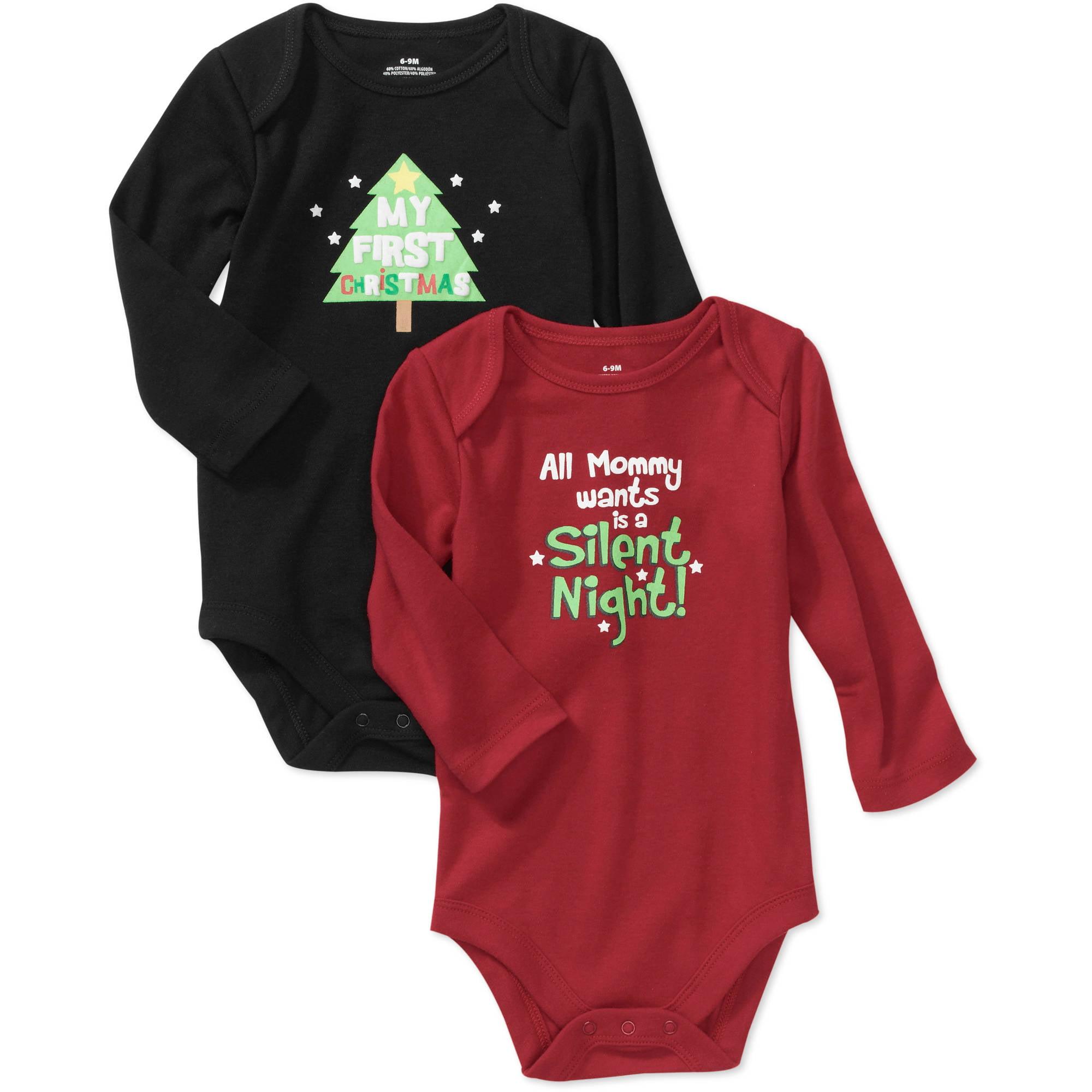 Newborn Boys' Holiday Creeper Set, 2-Pack
