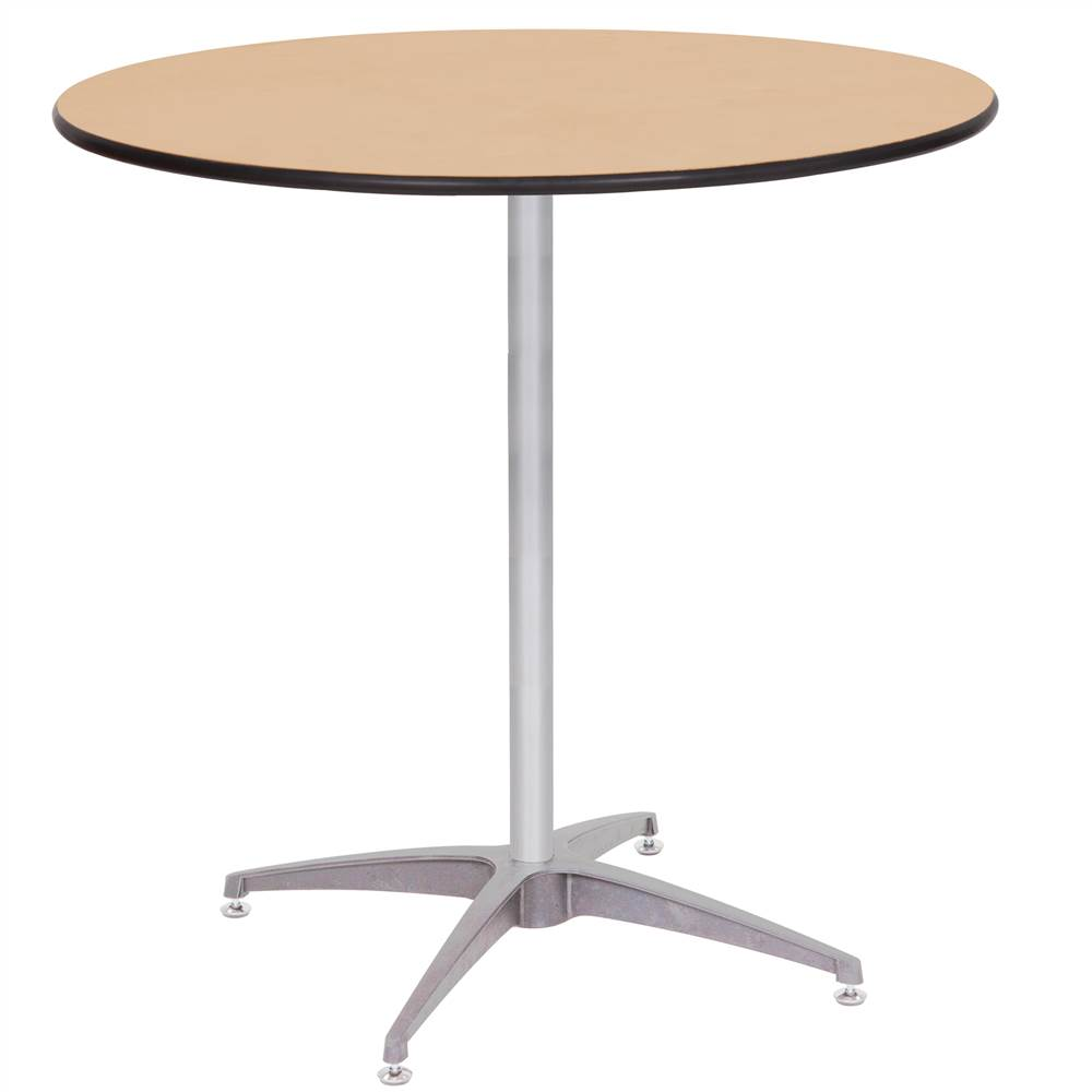 Adjustable Height Dining or Pub Table 36 in. Diameter by PRE Sales Inc