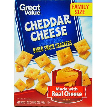 Merlot Cheddar - (2 Pack) Great Value Cheddar Cheese Baked Snack Crackers, 21 oz