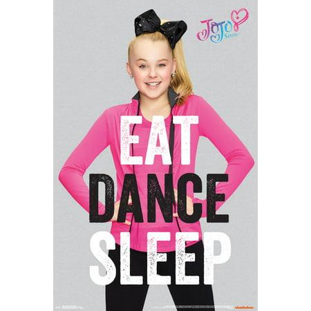Trends International JoJo Siwa Eat Dance Sleep Wall Poster 22.375