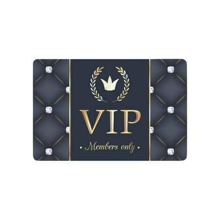 CADecor Vip Member Only Door Mat Home Decor, Personalized Indoor Outdoor Entrance Doormat 23.6x15.7 Inches ()