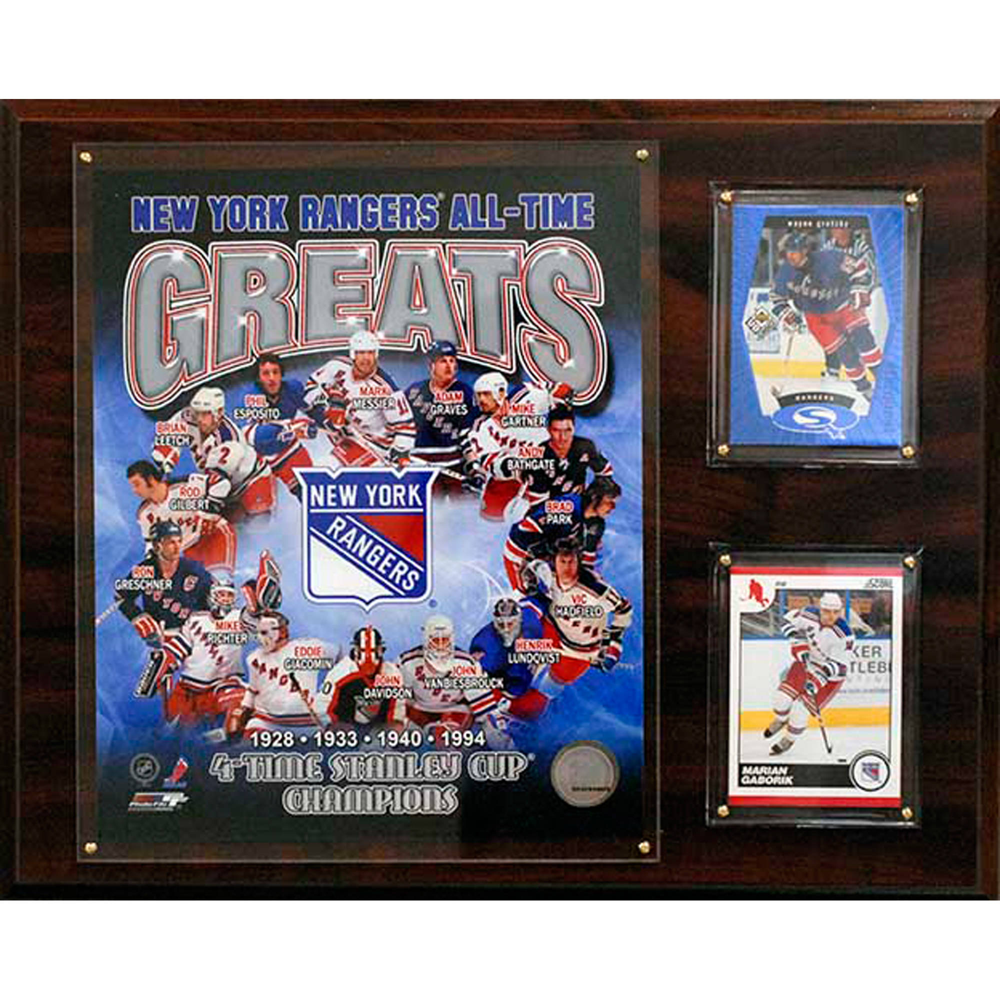 C&I Collectables NHL 12x15 New York Rangers All-Time Great Photo Plaque