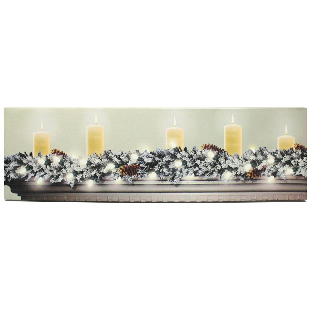 "Ohio Wholesale 46550 - 34"" x 10"" x 1"" - ""Candles On Mante..."