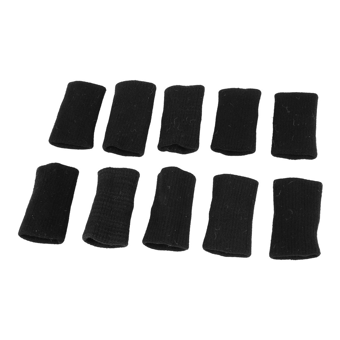 Unique Bargains 10Pcs Stretchy Volleyball Basketball Finger Sleeves Protector Wrap Guard for Unisex