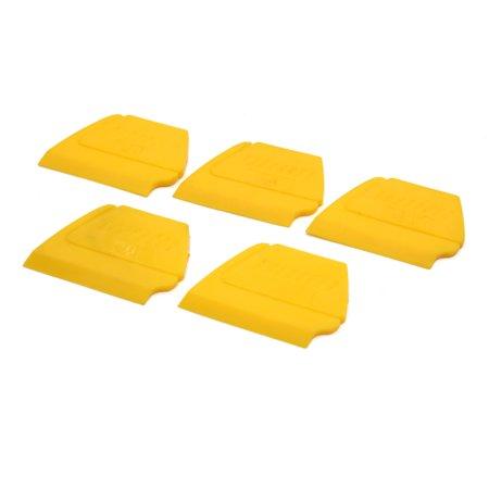 5Pcs Yellow Car Auto Windshield Tinting Scraper Edge Insert Squeegee Hand Tool