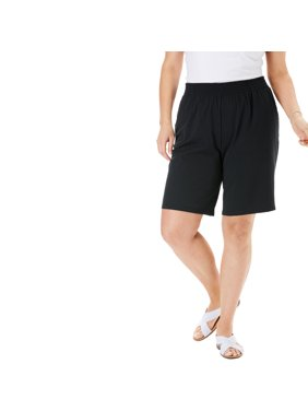 Woman Within Plus Size Jersey Knit Short Shorts