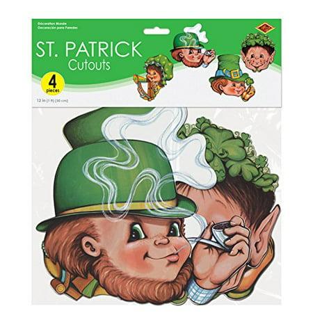 St Patrick Cutouts (Pack of 12) - image 1 de 2