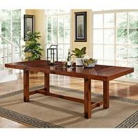 Walker Edison Dark Oak Wood Dining Table