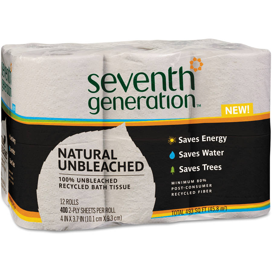Seventh Generation Natural Unbleached Bathroom Tissue, 400 sheets, 12 rolls