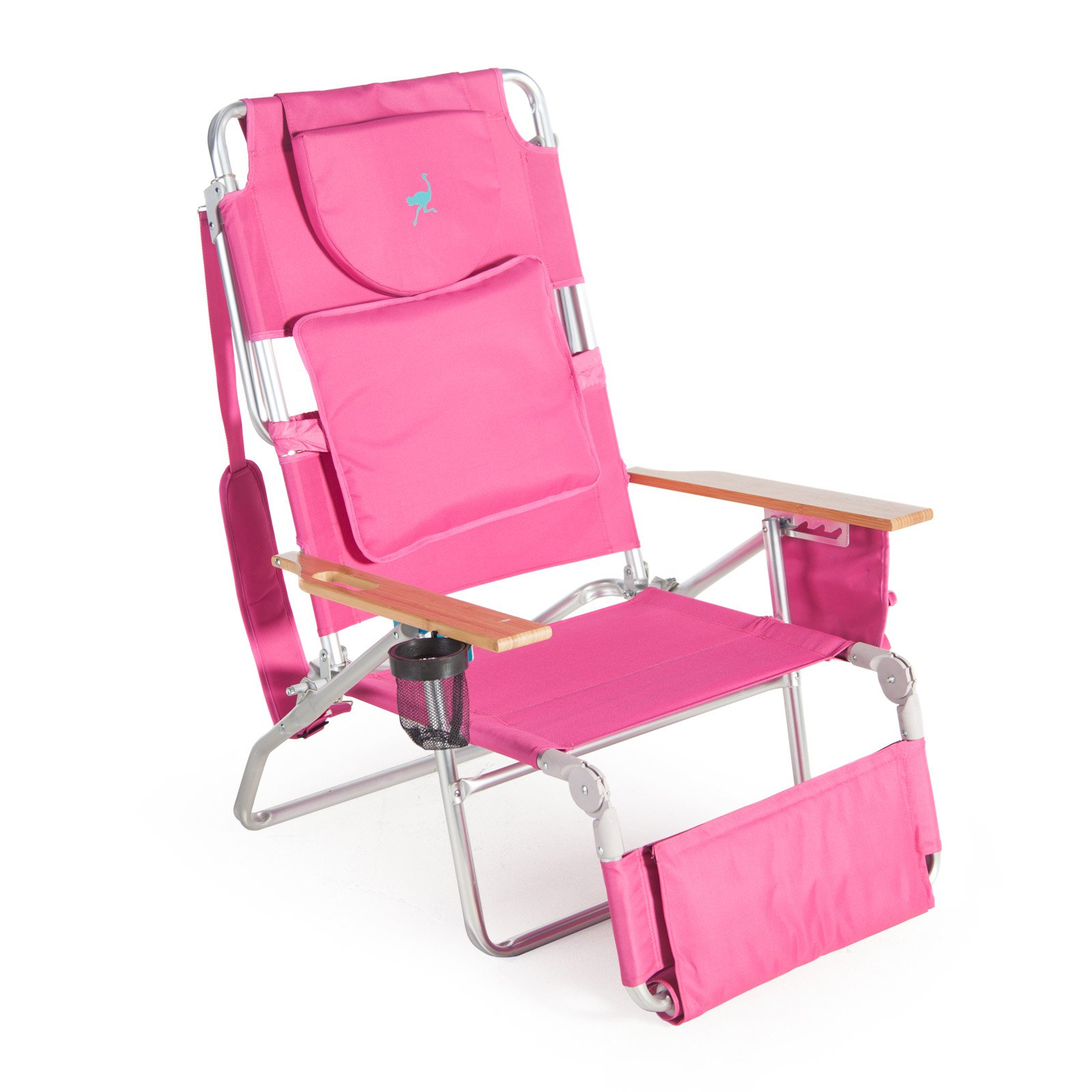 Deluxe Padded Ostrich 3-N-1 Beach Chair with FREE Towel
