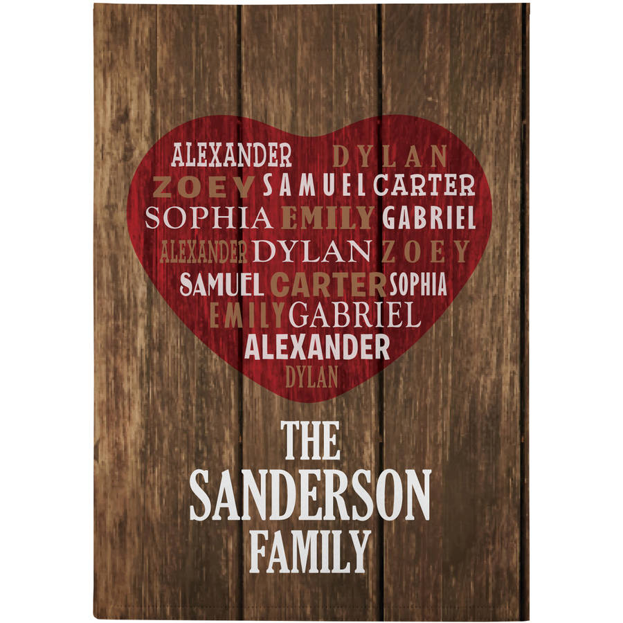 Personalized Home & Heart Garden Flag, Available with and without stake