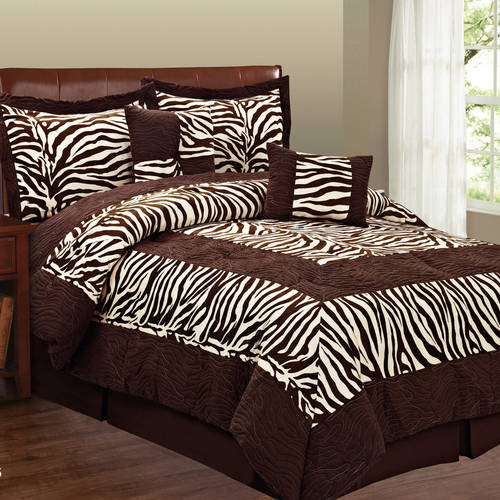 Fashion St. 6-Piece Micro Suede Animal Print Bedding Set