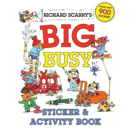 Richard Scarrys Big Busy Sticker   Activity Book