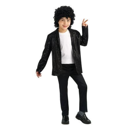 Michael Jackson Deluxe Billie Jean Jacket Child Halloween Costume - Juan Halloween Costume