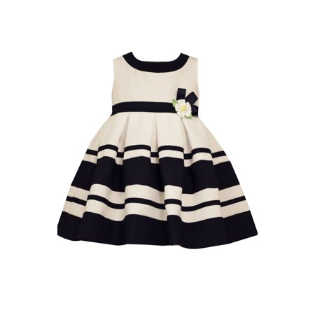 NEW Bonnie Jean Girls Nautical Navy Striped Easter Spring Dress 24 Months - Spring Dresses Girls