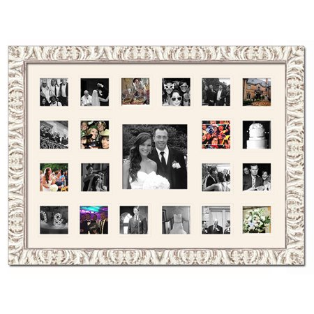 Wedding Photo Collage Frame - Holds 21 Photos - Great For Pics Captured by Friends & Family - image 1 de 1