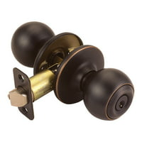 Design House 791608 Ball 2-Way Adjustable Entry Door Knob, Oil Rubbed Bronze