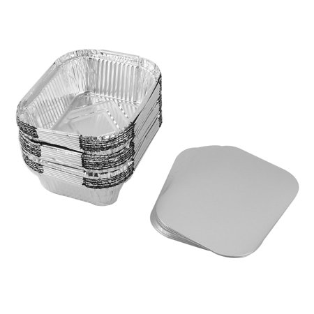 Restaurant Aluminum Foil Rectangle Disposable Food Container 5cm Height - Restaurant Storage Containers
